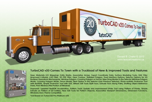 TurboCAD Tractor Trailer  for V20 Intro
